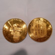 'Babe-Ruth-Coin-2' from the web at 'http://baberuthmuseum.org/wp-content/uploads/2013/11/Babe-Ruth-Coin-2-220x220.jpg'